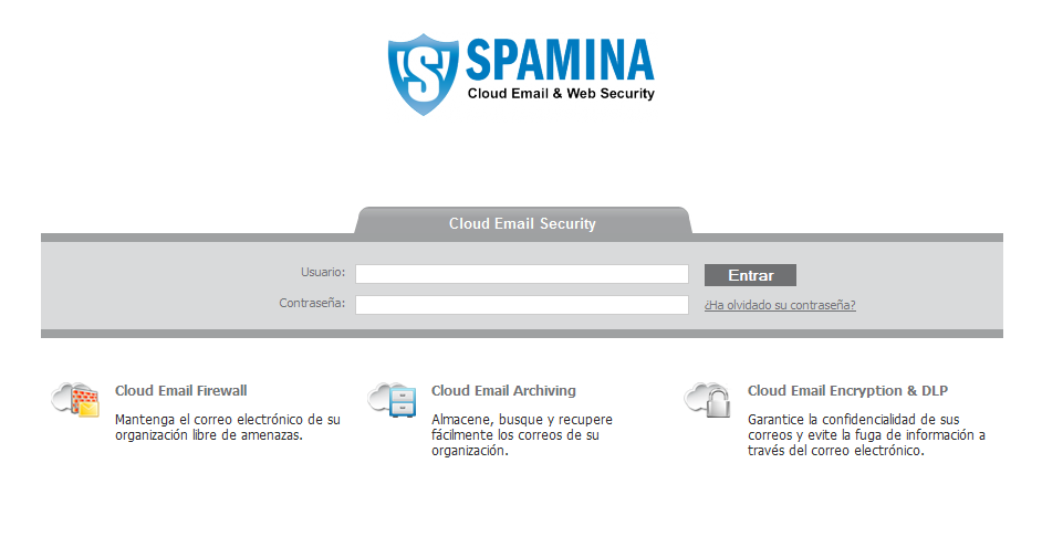 2 Interfaz de Cloud Email Firewall 2.