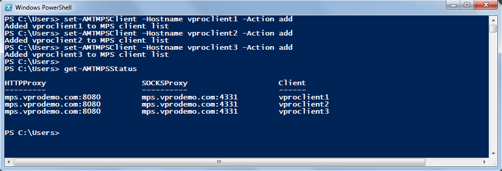 Microsoft Windows PowerShell El módulo PowerShell de Intel vpro soporta Fast Call For Help a partir de la versión 3.2.