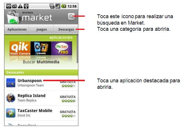 Market Android Market te