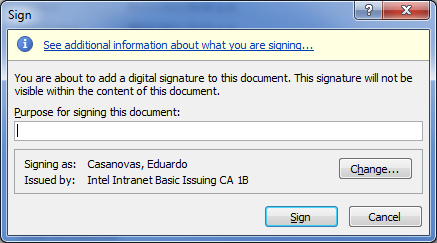 Firmar Digitalmente un documento Firma de