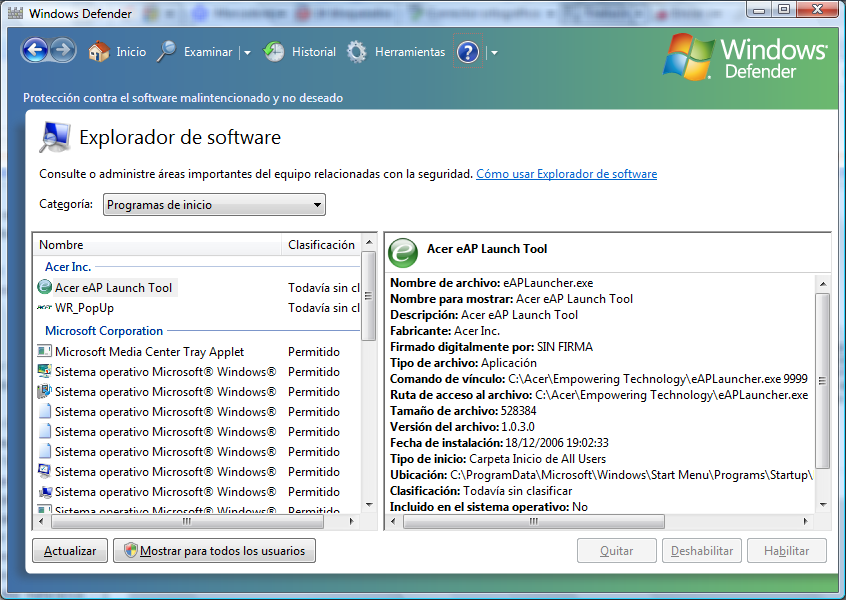 CONCEPTOS BÁSICOS Windows Defender