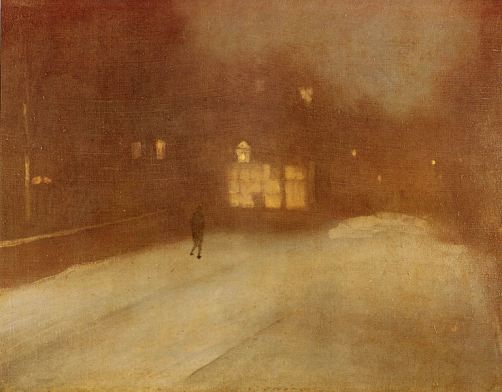 Servei Municipal de Biblioteques de Vilareal 32 James Abbott McNeill Whistler Gris y dorado, nieve en Chelsea (1876) «I Blow across the stagnant world, I blow across the sea, For me, the sailor s