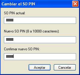 Guía del epassng 63 Cambiar SO PIN (Security Officer PIN PIN del Administrador) Los dispositivos epass token son provistos con una password por defecto para el Security Officer: 12345678.