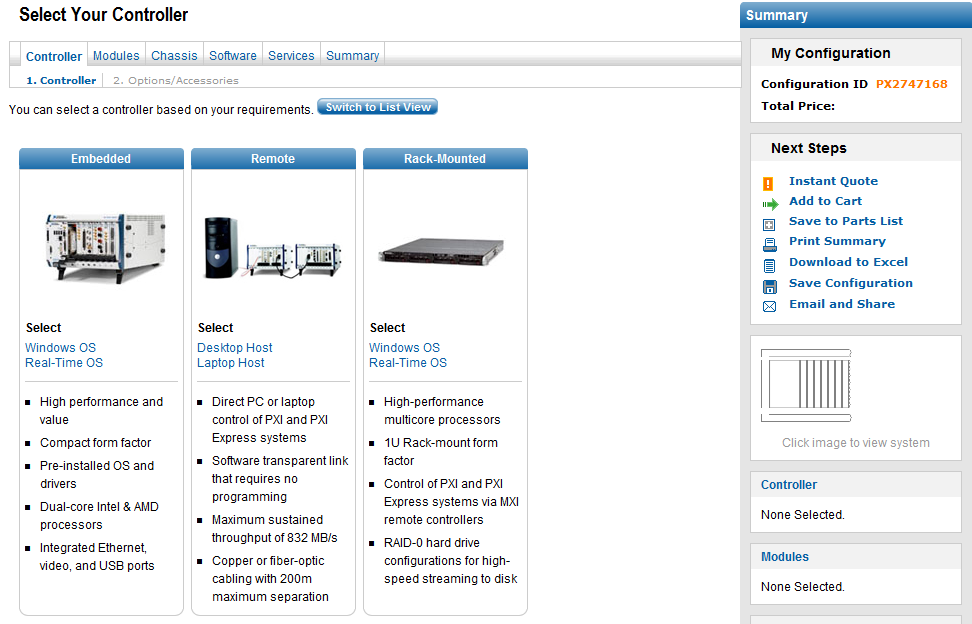 PXI System Configuration Tool