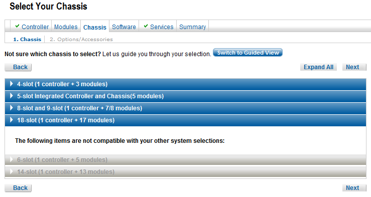PXI System Configuration Tool PXI Advisor Compatibility Check Allows only valid system configurations