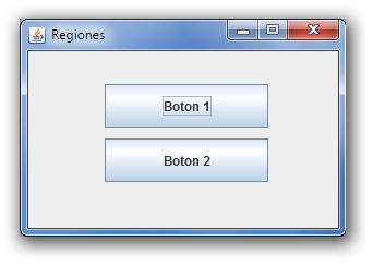 "ventana.add(boton1); boton1.setbounds(70, 30, 150, 40); JButton boton2 = new JButton(""Boton 2""); ventana.add(boton2); boton2.setbounds(70, 80, 150, 40); ventana.setdefaultcloseoperation(jframe."