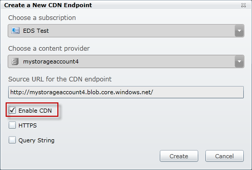 Windows Azure CDN Enabled from the Windows Azure Platform portal Integrated with Storage Recent