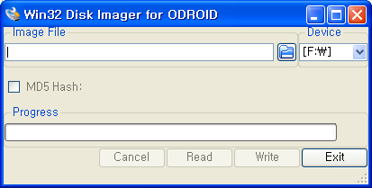 INSTALAR UN SO EN UN ODROID Windows Descarga Win32DiskImager.exe para ODROID v1.1 disponible en http://www.hardkernel.com/?b144.