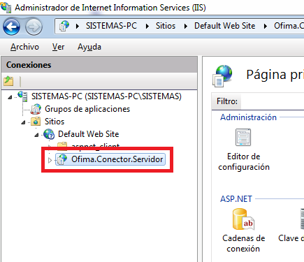 "<setting name=""conectionstring"" serializeas=""string""> <value>data source=sistemas-pc\sqlexpress;initial catalog=control_ofima2013_01;user id=aplicacion_crm;password=ofima;connection Timeout=0</value>"