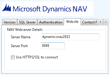 User Guide The Server Name is the hostname of the SQL Server database, this should also contain any instance names if been used, for example: navserver\navdemo This will connect to the NAVDEMO