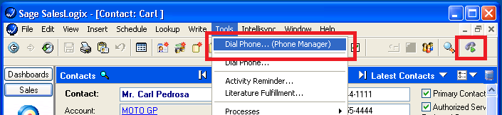 Mitel Phone Manager 4.2 6.5.9 SalesLogix Descripcióngeneral Describe las características que están disponibles en la integración con SalesLogix.