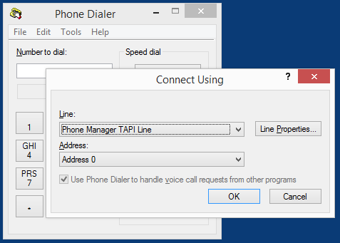 User Guide 4. Click Close. The TAPI driver is now ready to use. 5. To test the TAPI driver using Windows Phone Dialer, select Start -> Run -> dialer 6.