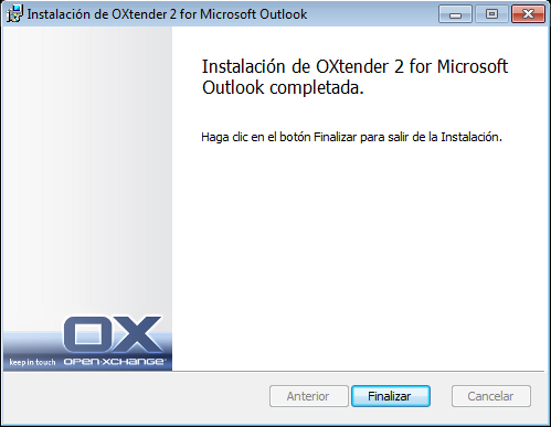 Instalación de Connector para Microsoft Outlook Pasos de