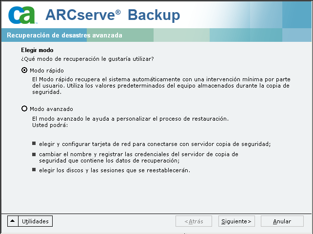 Recuperación de desastres en Windows Server 2003 y Windows XP mediante el método de CD de arranque (de 64 bits) DRLAUNCH se inicia automáticamente.