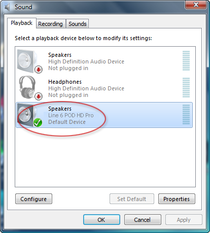 Audio USB 5 Funcionamiento del controlador (Windows Vista y Windows 7) En Windows Vista y Windows 7, se puede ver el botón Panel de control de sonido.