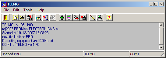 USER S MANUAL. PROWATCH TELMO 5.3 Operation of Software Once the installation has been finished, a shortcut has been created in the desktop, figure 12. Press double click to execute the software.