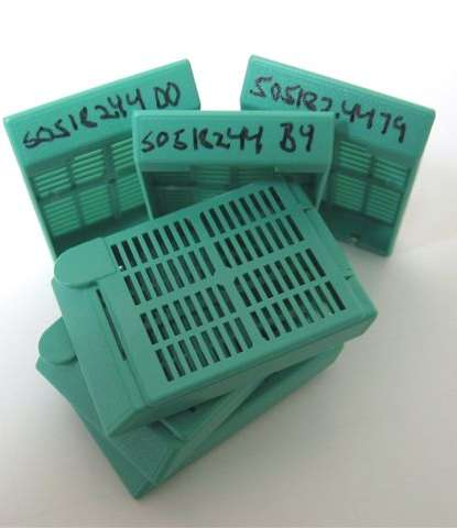 Slide and cassettes labelling: