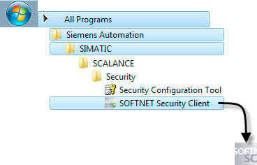 SOFTNET Security Client (S612/S613) 7.2 Instalación y puesta en servicio del SOFTNET Security Client 7.2 Instalación y puesta en servicio del SOFTNET Security Client 7.2.1 Instalación e inicio de SOFTNET Security Client El software de PC SOFTNET Security Client se instala desde el CD SCALANCE S.