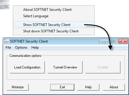 SOFTNET Security Client (S612/S613) 7.4 Operación de SOFTNET Security Client 7.