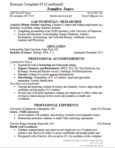 Design: Combined Resume Template (2012) Resume Samples I modified and created resume samples to suit various needs.
