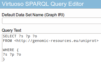 And if it is Virtuoso OpenLink endpoint to query results go to http://localhost:8890/sparql web portal: Documentation [1] Measurement Ontology for IP traffic (MOI); Report on information models for