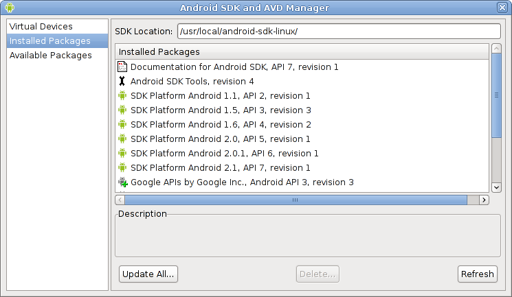 El SDK de Android http://developer.android.