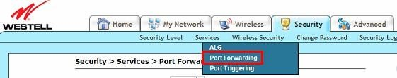 Name: Un nombre que utilizaremos para el servicio de forwarding. Start Port: Puerto de la cámara. End Port: Puerto de la cámara. Protocol: TCP IP Address: Dirección IP de la cámara.