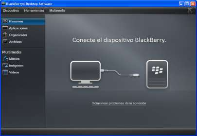 6. Sigue las instrucciones para descargar el BlackBerry Desktop Software. 7. Una vez instalado el BlackBerry Desktop Software. Conectar el dispositivo BlackBerry 9620 8.