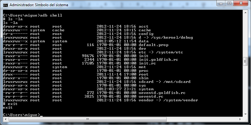 apk Lanzar una consola remota del dispositivo adb provides an ash shell that you can use to run a variety of commands