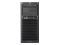Hewlett Packard HP ProLiant ML330 G6 Servidor torre 5U 2 vías 1 x Xeon E5504 / 2 GHz RAM 2 GB disco duro 1 x 250 GB DVD ATI RN50 Gigabit Ethernet Monitor : ninguno Rendimiento y facilidad de gestión