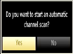 Cable Installation If you select CABLE option and press OK button on the remote control to continue, the following message will be displayed on the screen: You must select a search type to search and