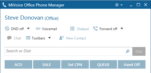 MiVoice Office Phone Manager 4.1 3.2.