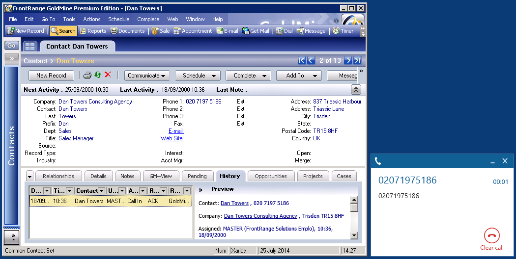 MiVoice Office Phone Manager 4.