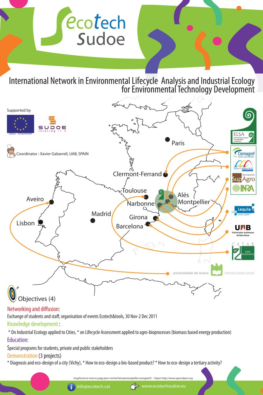 Ecotech-Sudoe: an international network in life-cycle analysis and eco-design