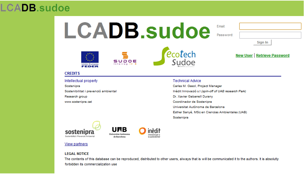 Ecotech-Sudoe: an international network in life-cycle analysis and eco-design of