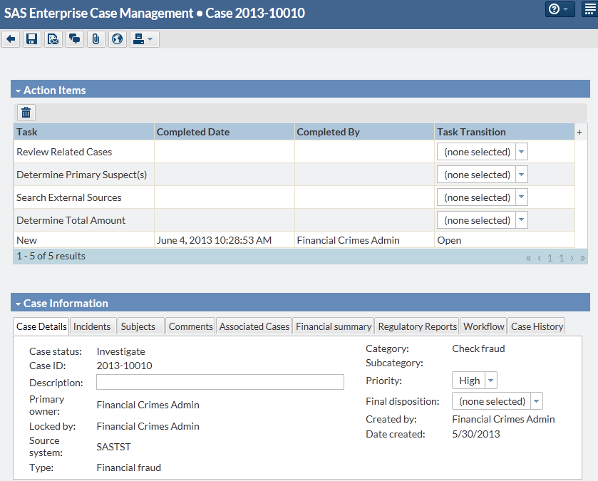 ENTERPRISE CASE MANAGEMENT SAS WORKFLOW