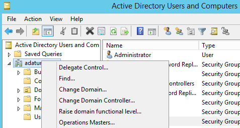 desde FSMO maintenance: Select operation target list roles for connectecd server nomenglaturas LDAP CN=LON-DC1,DC=adatum,DC=com el directorio activo sigue el estandar LDAP (lightweight directory