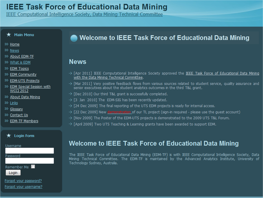 IEEE Task Force of Educational Data