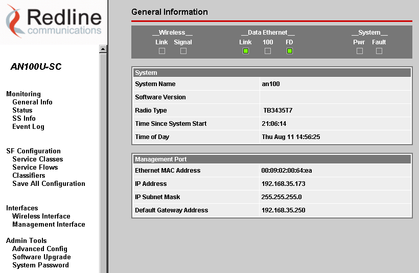 Este se divide en cuatro etapas: Monitoring SF Configuration Interfaces Admin Tools 1.1 Monitoreo Paso 2.