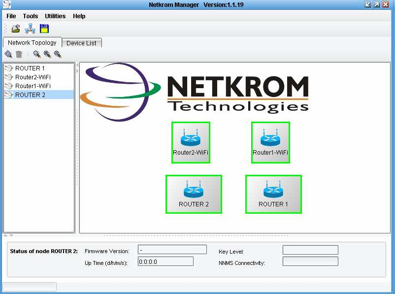 86 Fig. 4.31 Dispositivos enlazados y funcionando por software Netkrom Manager.