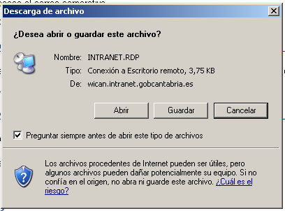 Descargamos el cliente de Terminal Server o el *.zip de Citrix para Windows XP.