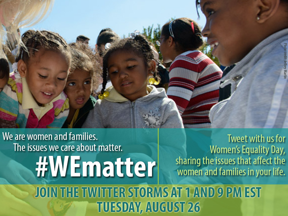 #WEmatter GRAPHICS Save-the-date for the tweet storms: You can