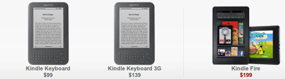 Amazon Kindle Amazon ya vende