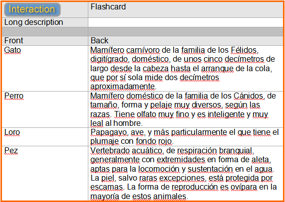 Y las flashcards?