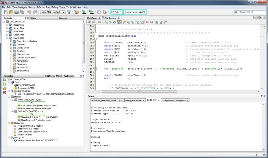IDE Layout 2012 Microchip Technology
