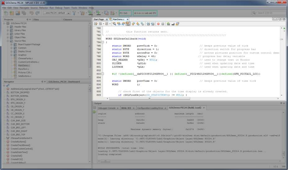IDE Layout Editor Editor Window 2012 Microchip