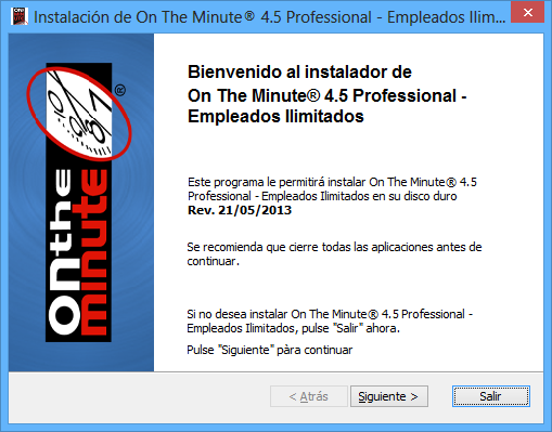 BIENVENIDOS A ON THE MINUTE. Gracias por adquirir On The Minute.