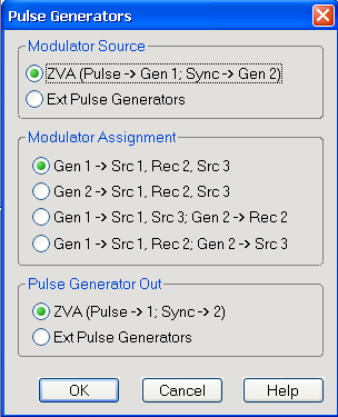 Pulse Profile Measurement Pulse Generator Signals Fig. 3-3: Pulse Generator settings 3.
