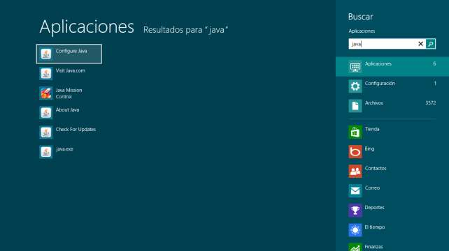 configurar java. En windows 8/8.