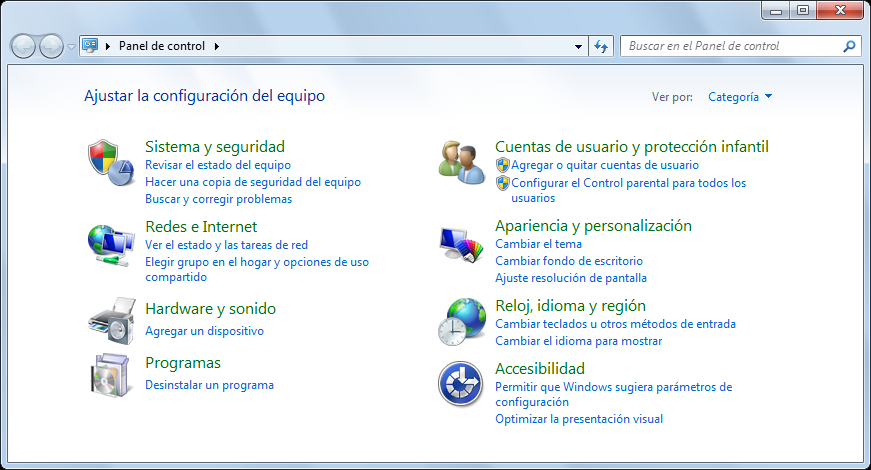 Si ya instaló el software anteriormente 4. Desinstale el software. En Windows 7/Windows Vista 1. Seleccione el menú [Inicio] [Panel de control] [Programas]. 2.